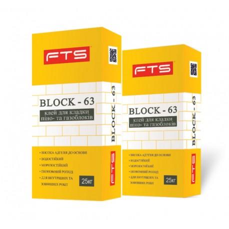Клей для піно-та газоблоків Block-63 25кг
