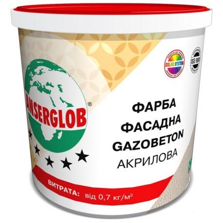Краска фасадная Ансерглоб Gazobeton акриловая