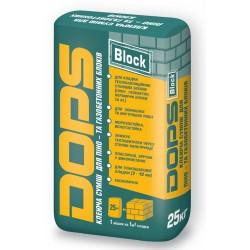 Клейова суміш Dops Block для піно-та газобетонних блоків