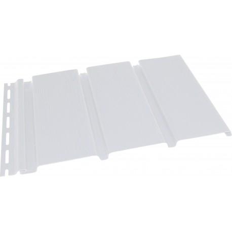 Софит панель Budmat перфорированная / без перфорации белая