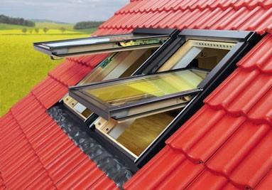 Мансардні дахи з вікнами